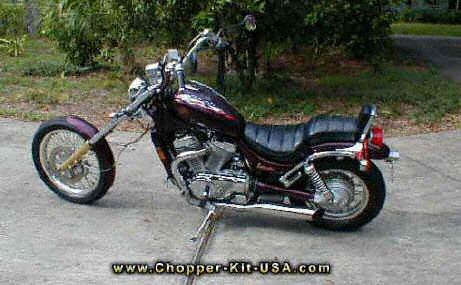 Suzuki Chopper Pictures -^- 14 degree raked wide glide