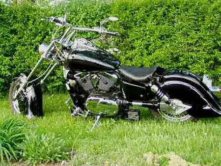 ame 14 degree bolt-on chopper kit fits kawasaki vn1500 classic models