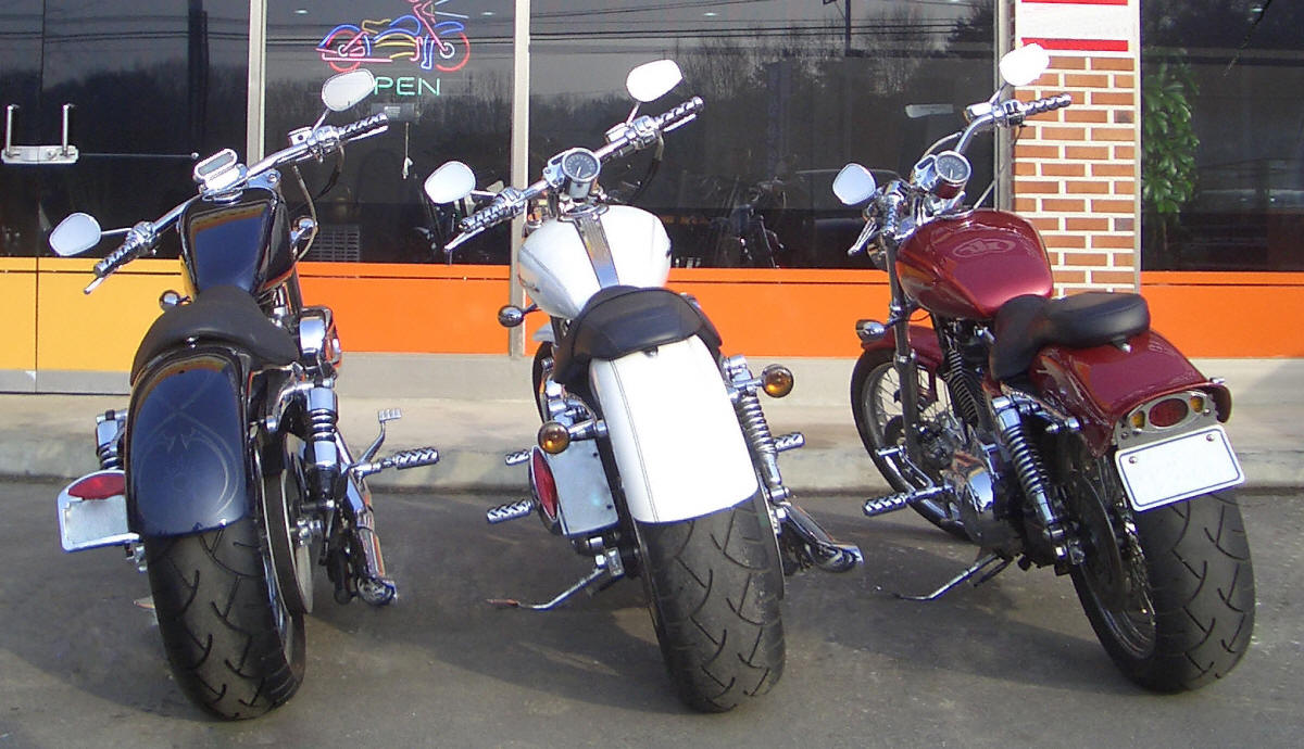 Wide Tire Kit Harley Sportster Fat Kits