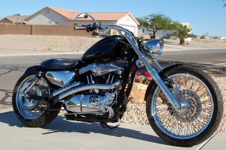 165 2009 XL1200N 9 Deg Rake Kit W 2 Tubes